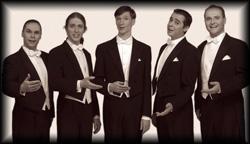 5 Männerstimmen imitieren Instrumente mit ihrem Mund