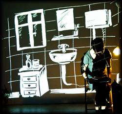 Räume werden mit Hilfe von Licht gezeichnet und animiert