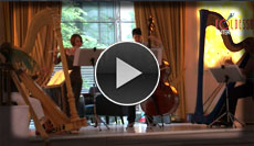 Klassisches Damentrio empfängt die Gäste am Eingang mit sanfter Musik