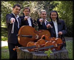 Männer Quartett spielt Meisterwerke der klassischen Musik