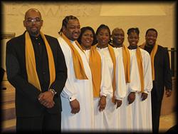 Gospelsänger-Show, energiegeladen und voller Lebensfreude