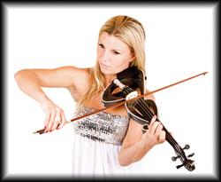 Die Solo Violinistin spielt klassische Werke und Musik für jeden Geschmack