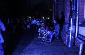 Percussionshow auf dem Fahrrad