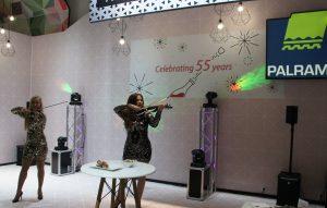 Elektronische Violinen Show