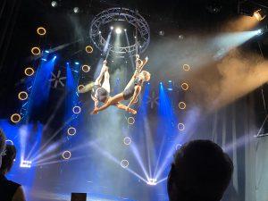 Aerial acrobatics Kristallpalast Leipzig