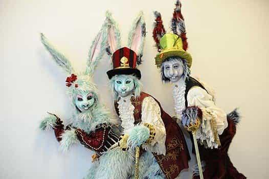 Easter-bunnies-on-stilts