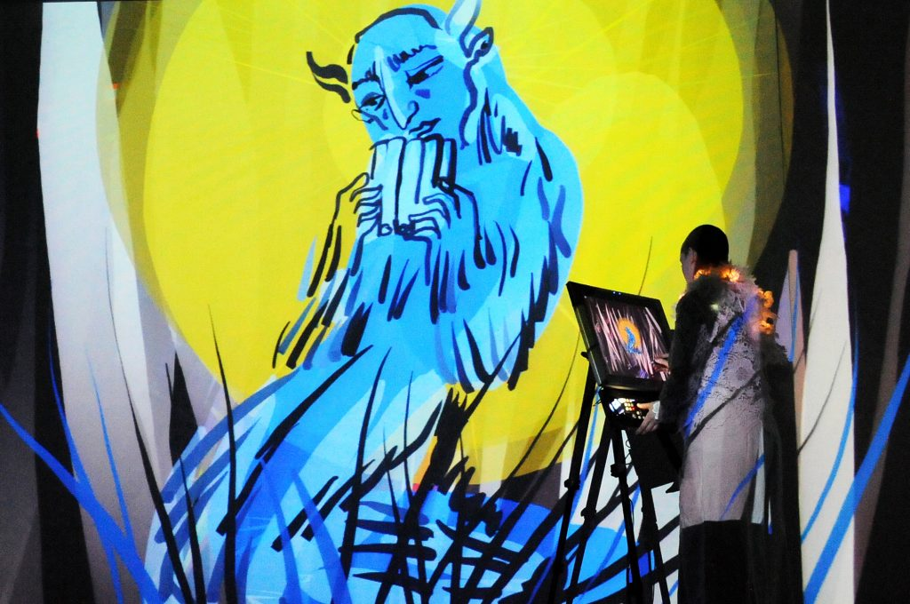 Live-painting-with-new-technology-Germany